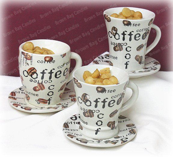 Group Photo Of Coffee Cup Tart Warmers Tea Light