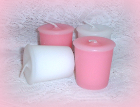 Pink and White Votive Candles